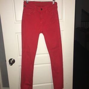 Citizens ofHumanity Red Skinny Jean